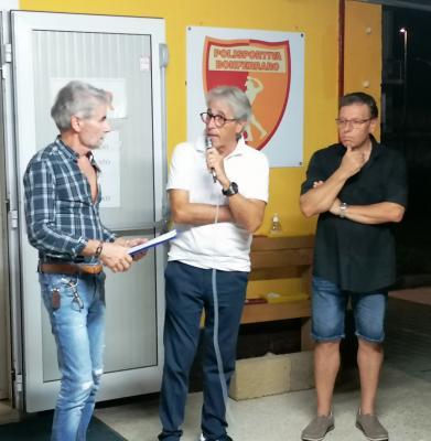 Antonio Dal Molin, il presidente Alfredo Gheli ed il vice Sergio Remondini